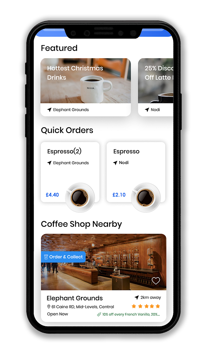 brewround coffee shop app