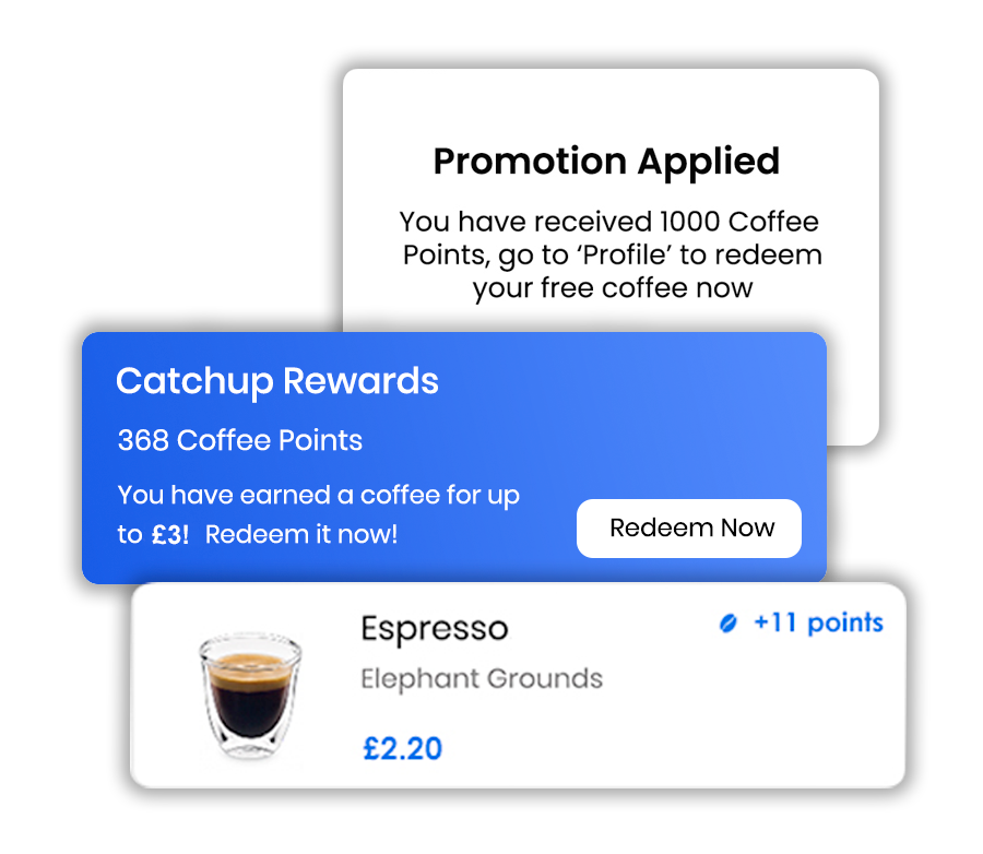 coffee shop app loyalty and rewards